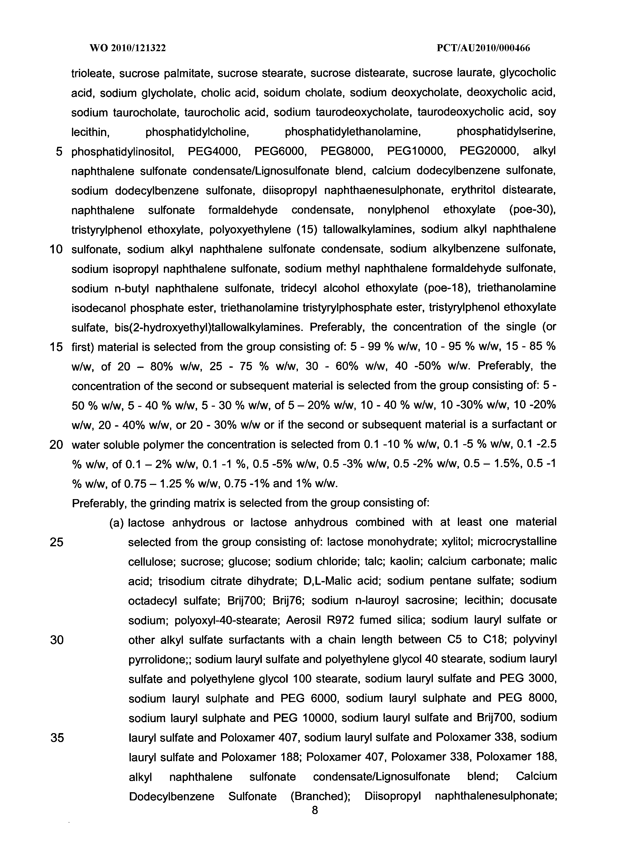 Wo 2010 121322 A1 Production Of Encapsulated Nanoparticles At Tween 20 Polysorbate 1kg Page 9 133