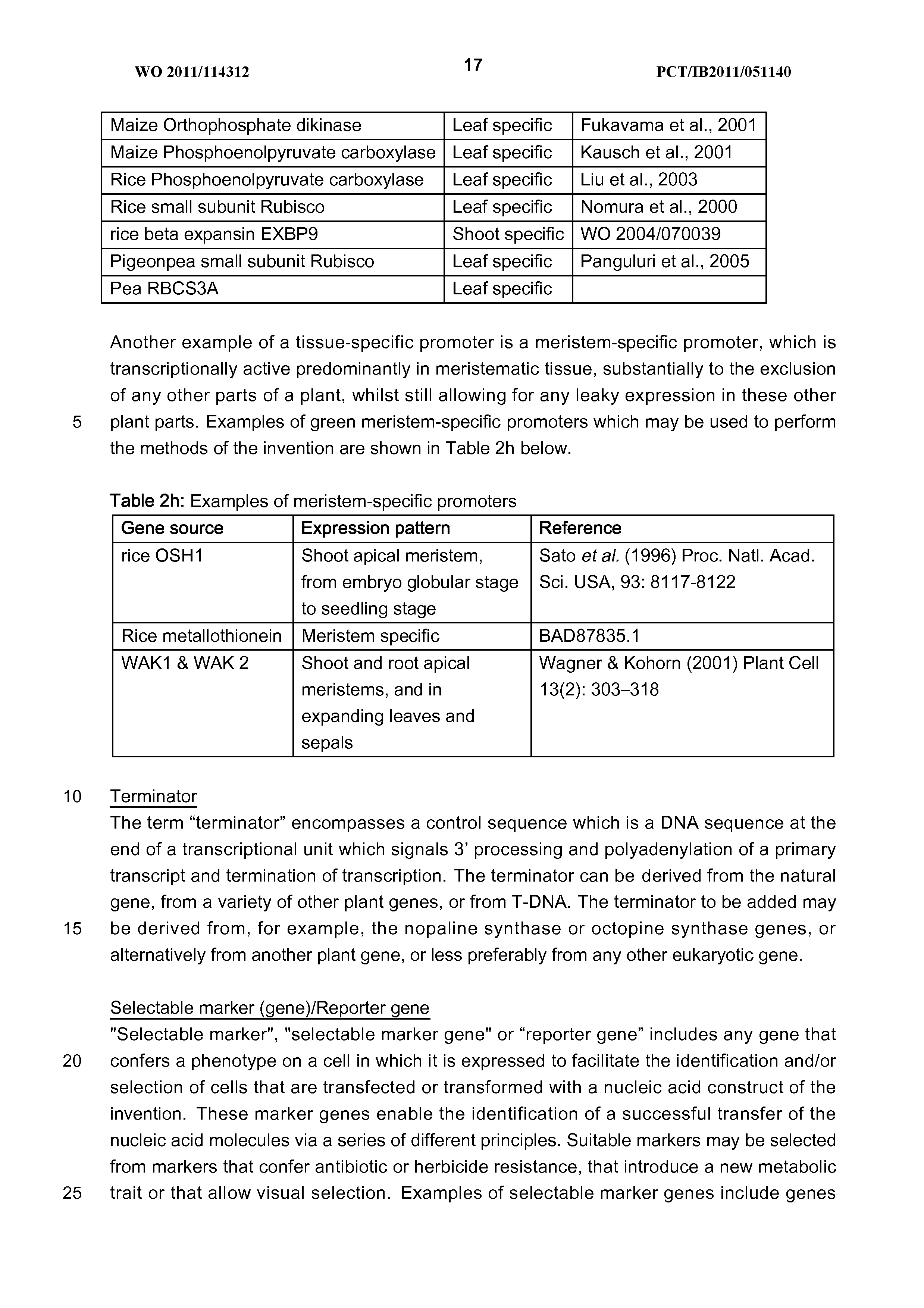 WO 2011/114312 A1 - Plants Having Enhanced Yield-related