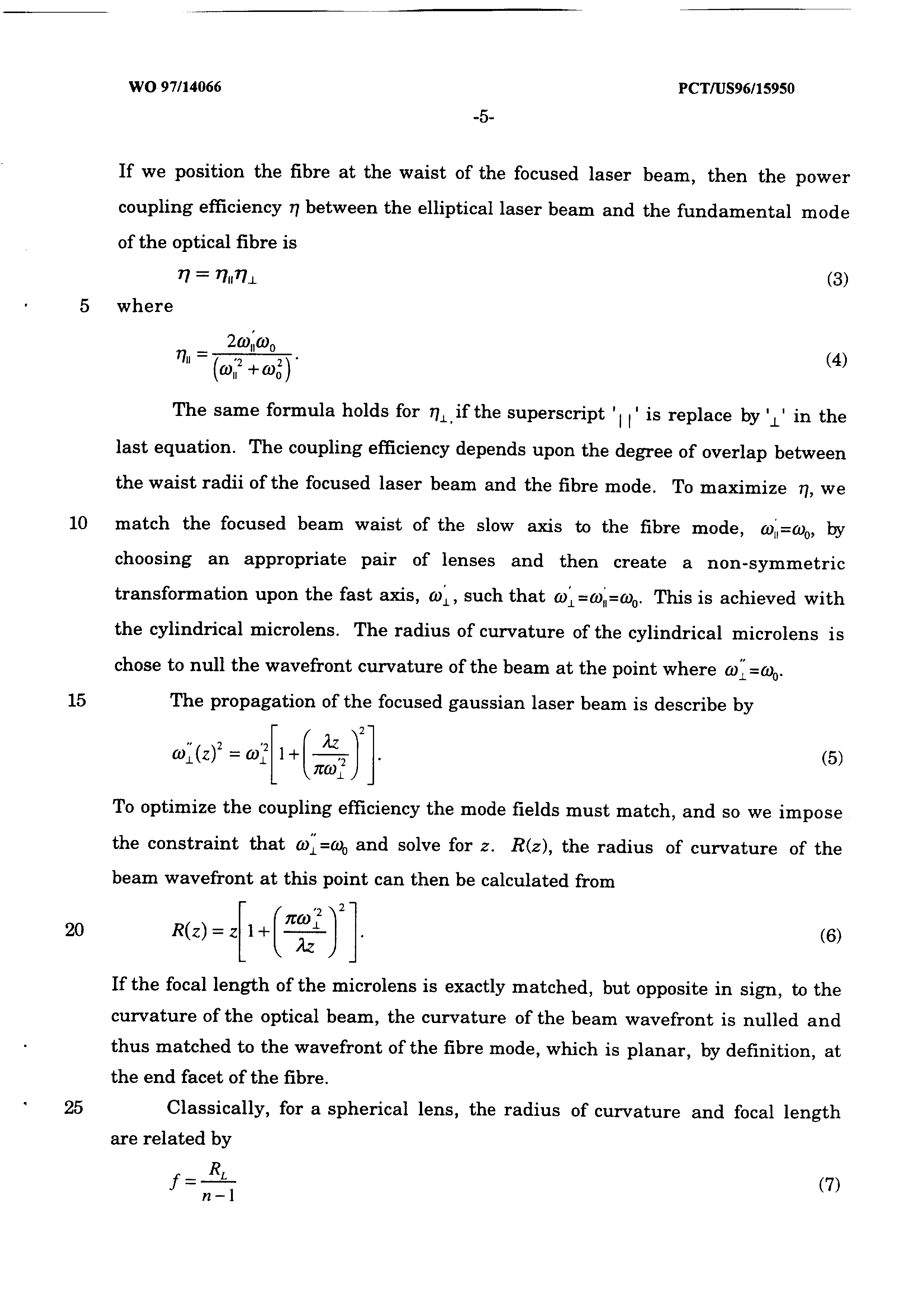 WO 1997/014066 A2 - Method For Improving The Coupling Efficiency Of