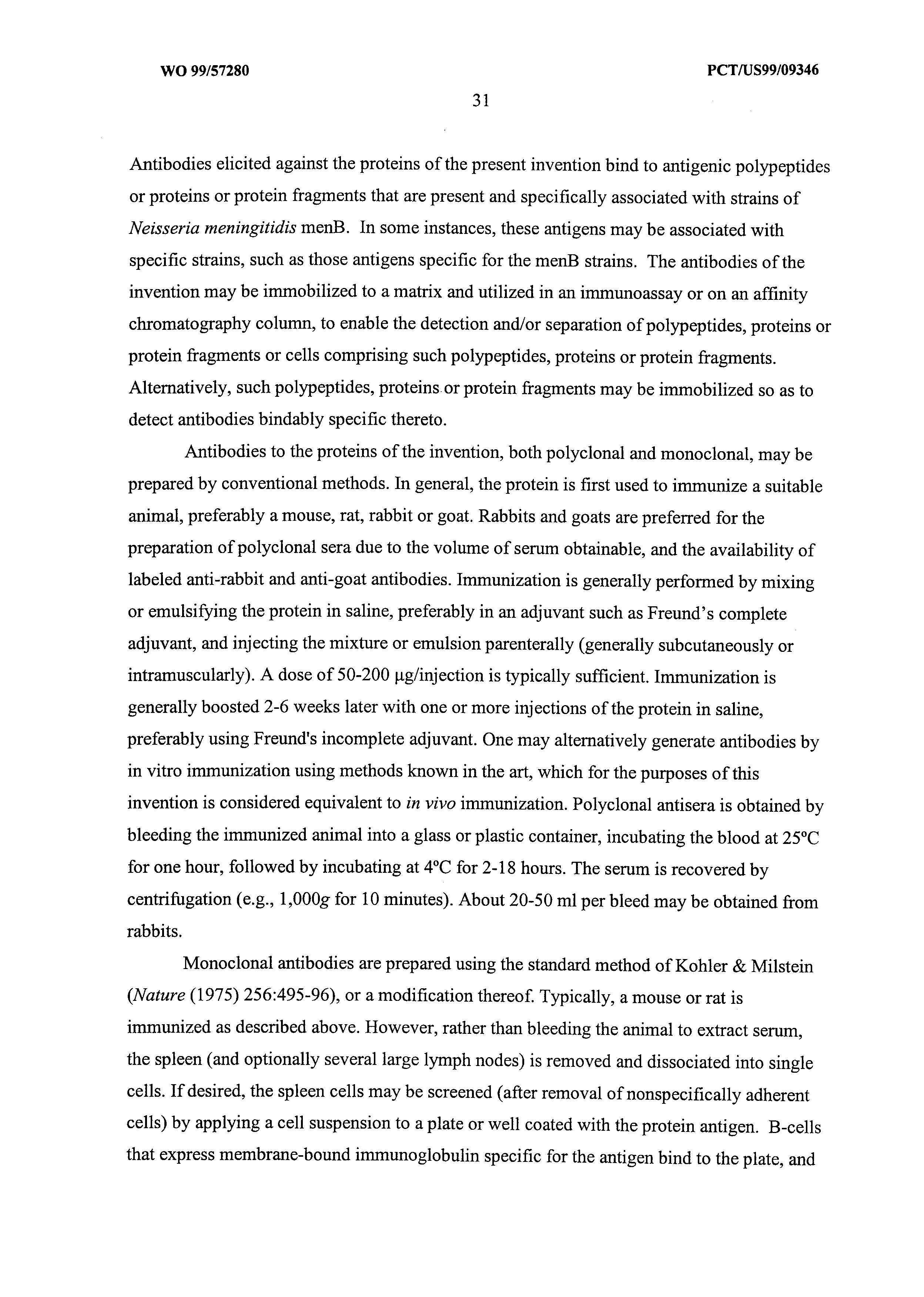 WO 1999/057280 A2 - Neisseria Meningitidis Antigens And