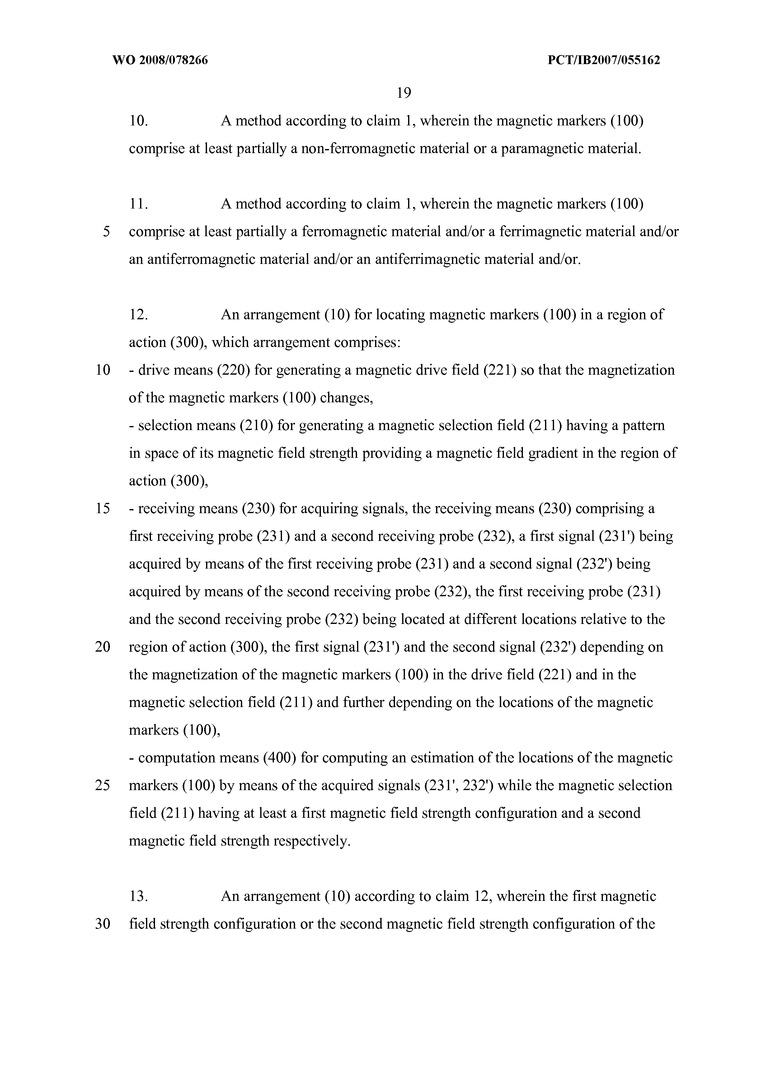WO 2008/078266 A2 - Method And Arrangement For Locating