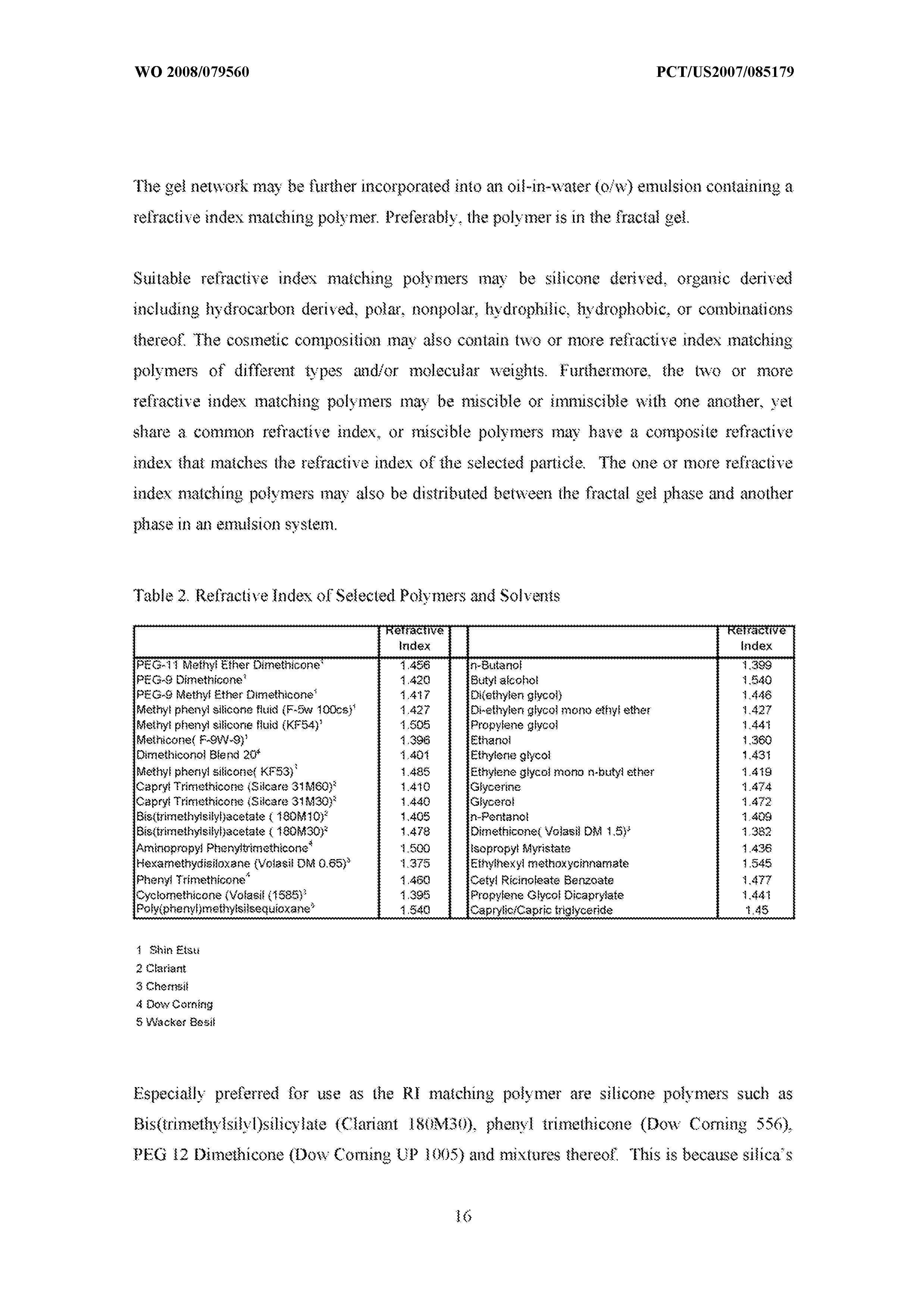 WO 2008/079560 A2 - Cosmetic Composition Containing Novel Fractal