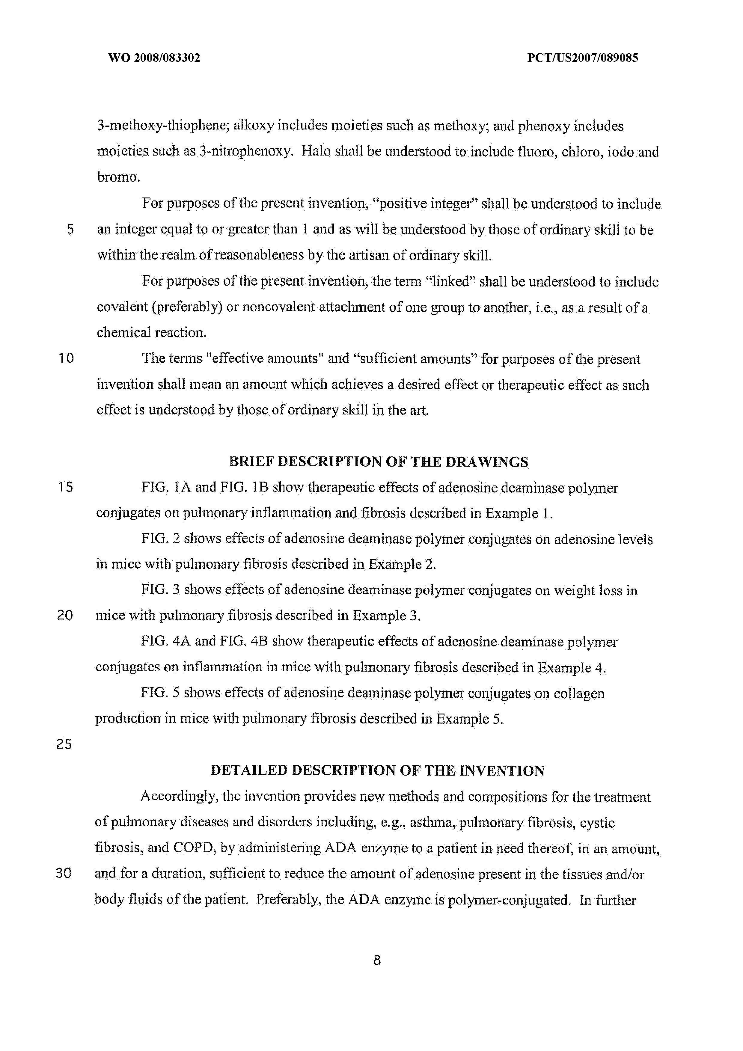 WO 2008/083302 A2 - Use Of Adenosine Deaminase For Treating