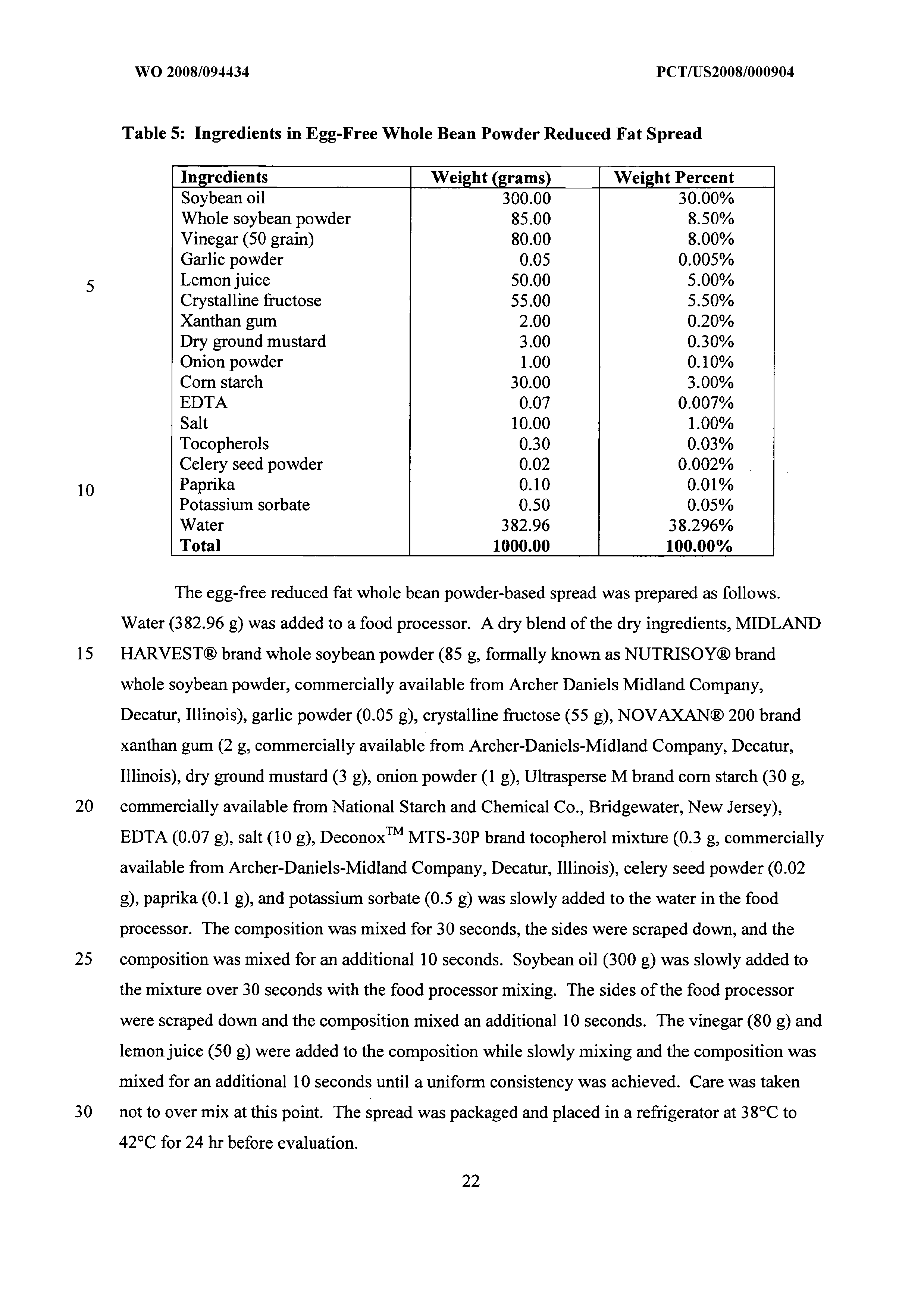 WO 2008/094434 A2 - Compositions Comprising Wheat Protein
