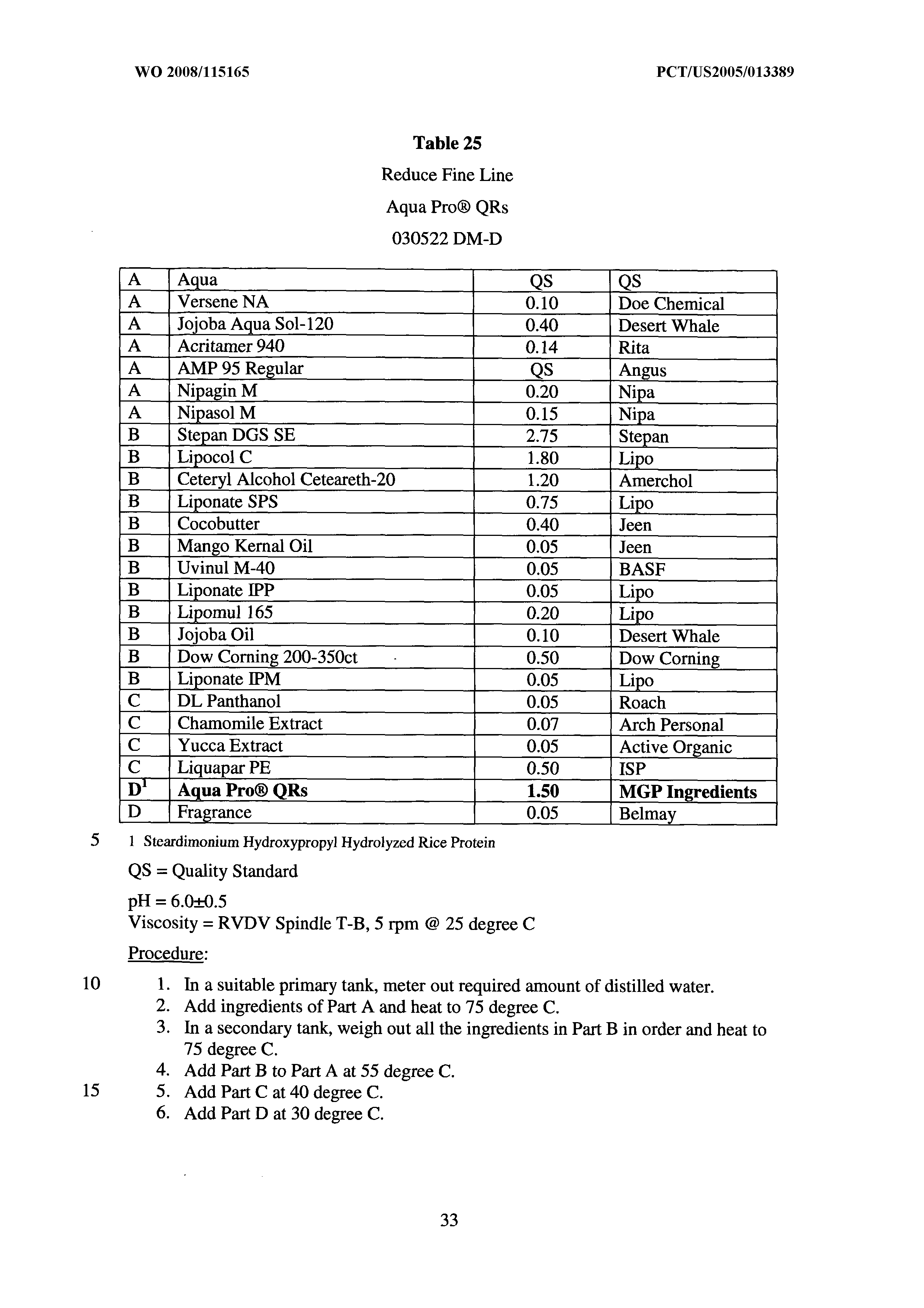 WO 2008/115165 A2 - Method Of Hydrolyzing Rice Protein