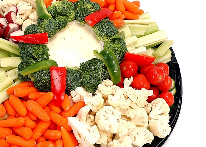 Platter of veggies