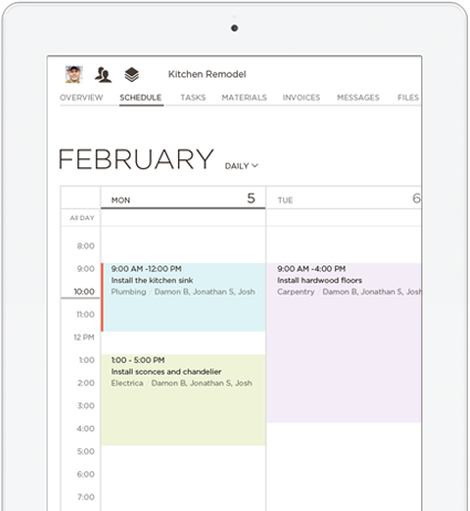 iPad displaying calendar