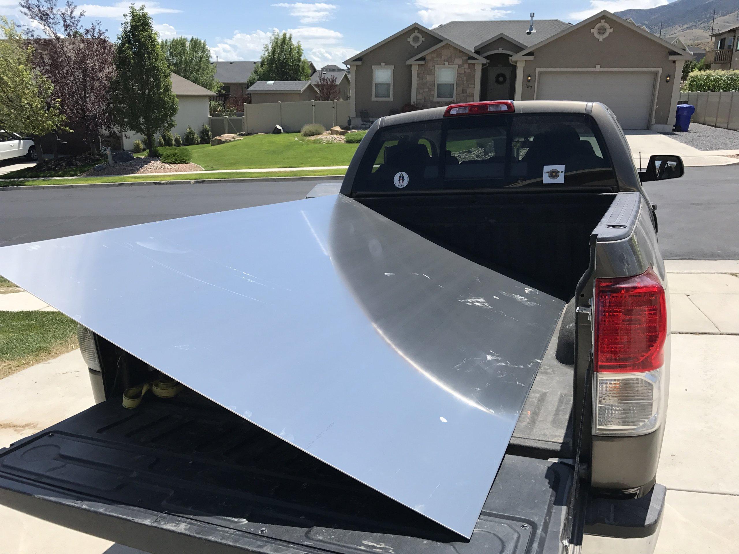 5x8 1/8 aluminum sheet.