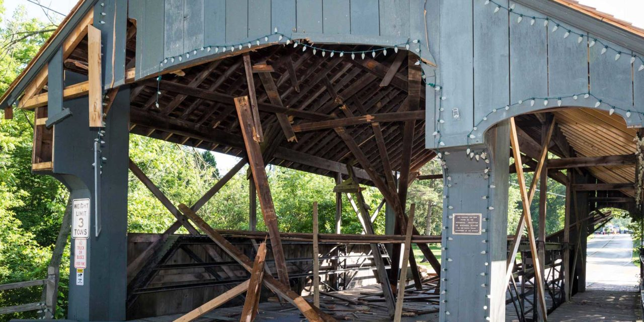 Bridge Damaged - Long Grove Historical Society