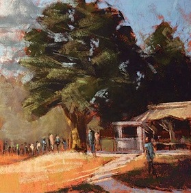 Larry Grob Painting of Lands Sake Farmstand.jpg