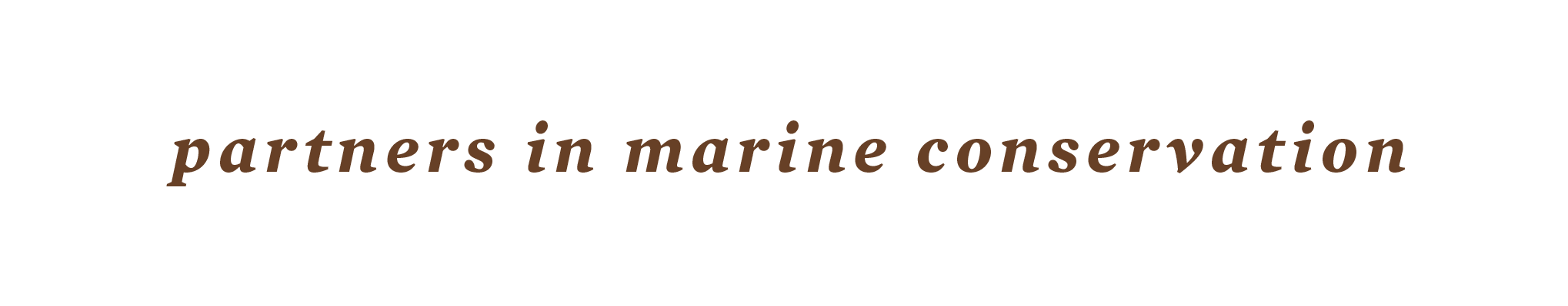 Partners in marine conservation