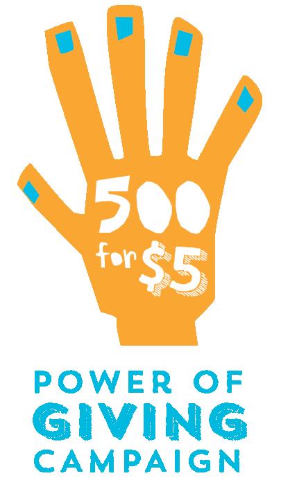 500 for 5 logo