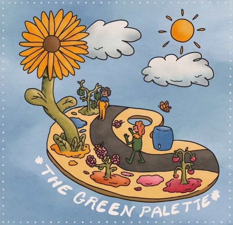 The Green Palette Logo
