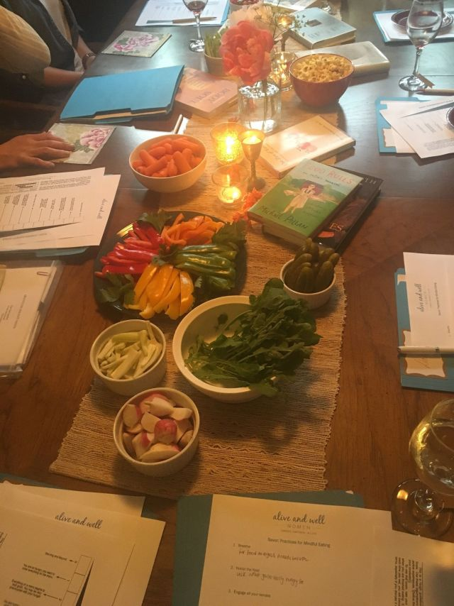 Mindful Eating Experiential Table