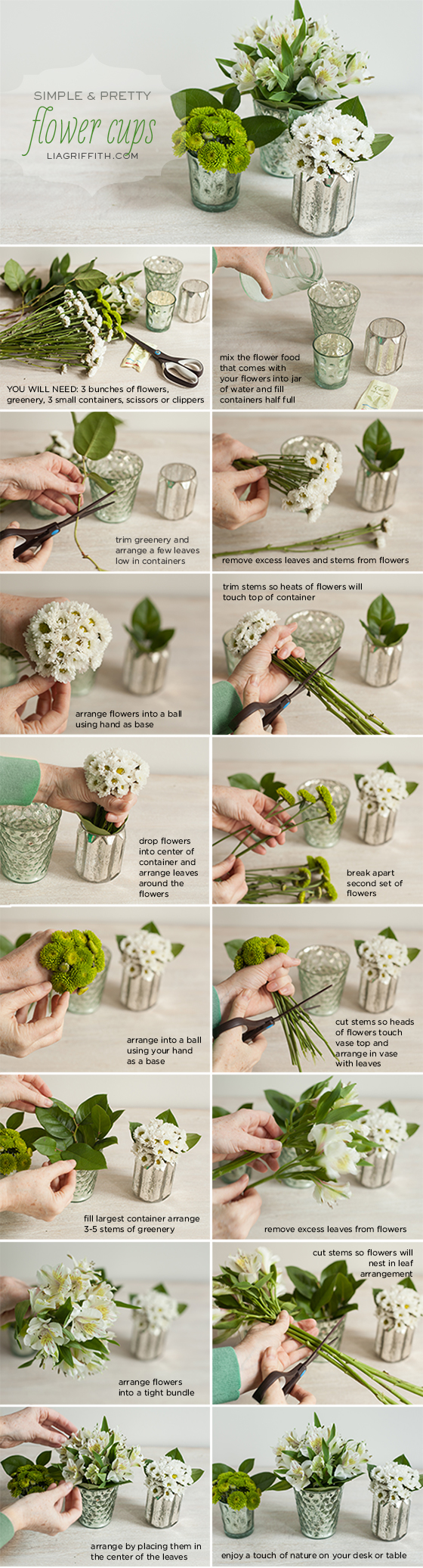 Mini Flower Cup Tutorial
