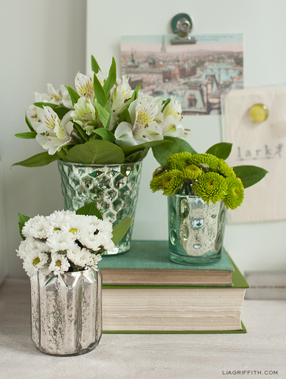Add a little bit of spring to your office desk lia griffith Simple flower decoration ideas
