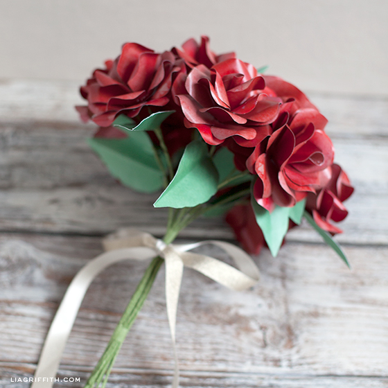 Red Paper Rose Bouquet