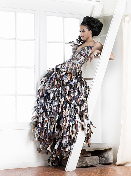 Upcycled Vogue Magazine Dresses Lia Griffith