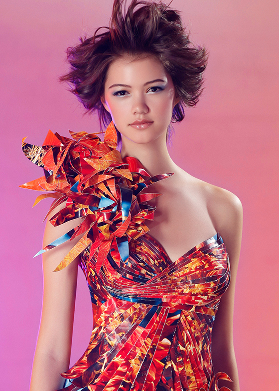 Dahlias Amp Butterflies Paper Dress Lia Griffith
