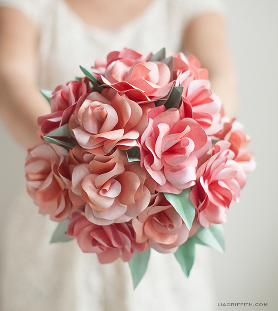 diy paper wedding bouquet