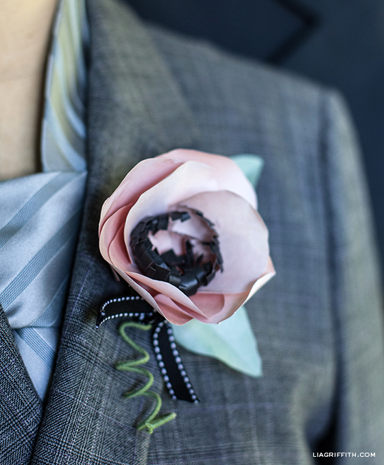 Paper Flower Diy Corsage And Boutonnire Tutorial Lia Griffith