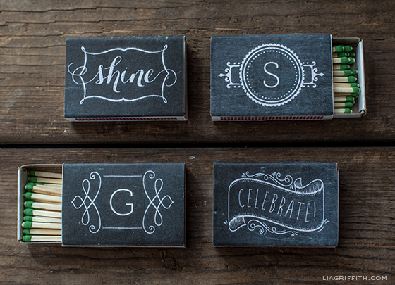 Chalkboard Printable Matchbox Labels
