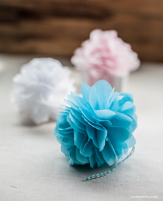 Diy Tissue Pom Pom Gift Toppers