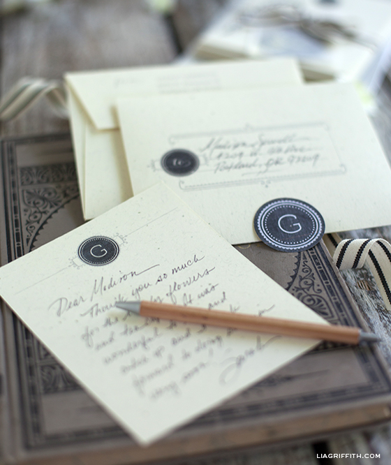 Monogrammed Stationery Notecards