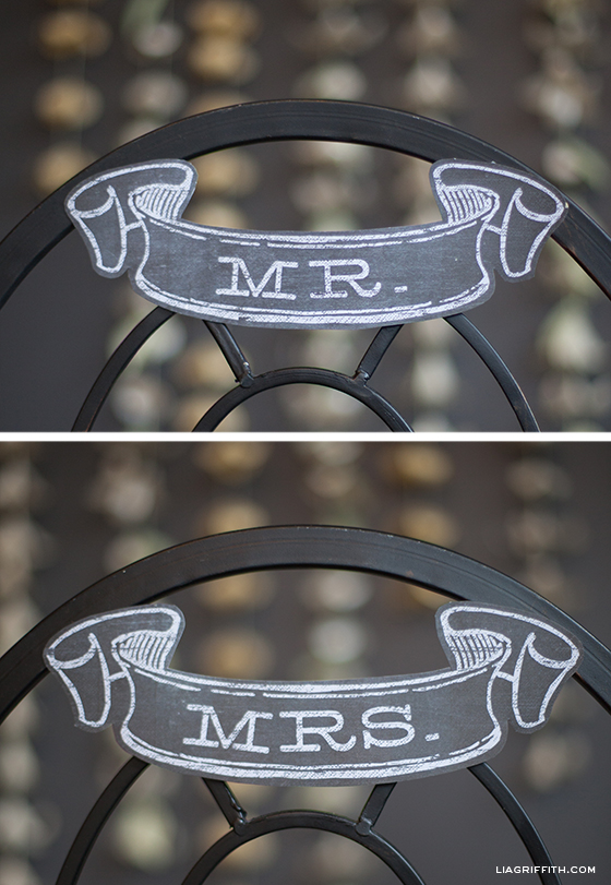 Mr and Mrs Chalkboard Wedding Banner