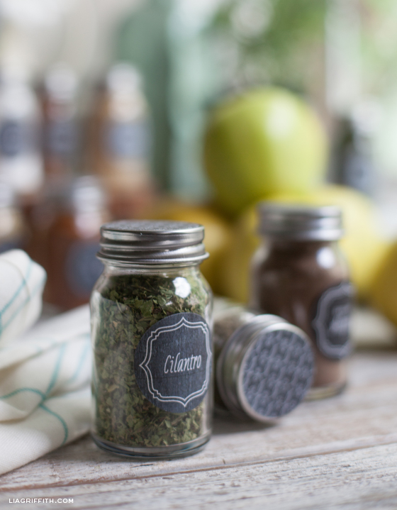 Vintage Herb and Spice Labels organization