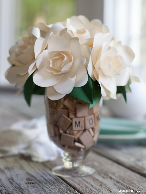 Paper Gardenia Bouquet