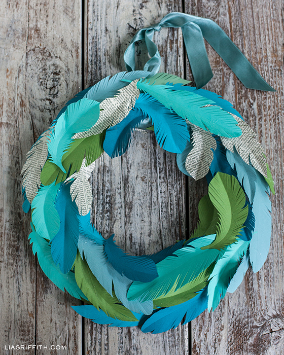 DIY Wreath in Teal