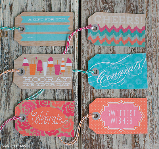 Sweet Summer Printable Gift Tags