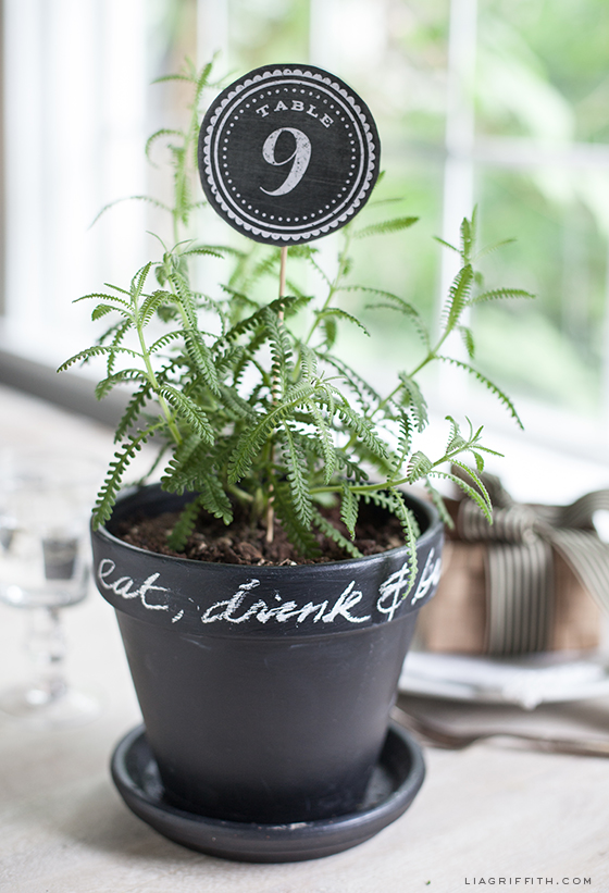 Chalkboard Style Table Numbers
