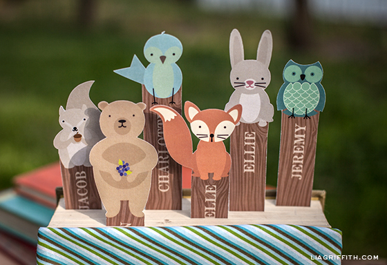 Bookmarks Woodland Friends