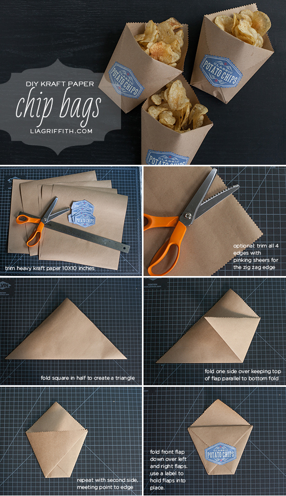 diy kraft paper chip bags. Black Bedroom Furniture Sets. Home Design Ideas
