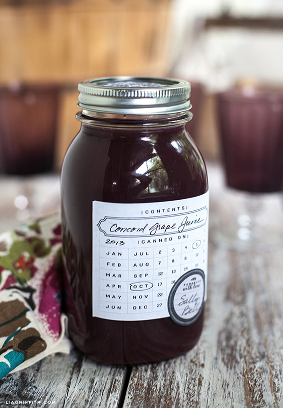 Printable Date Canning Label