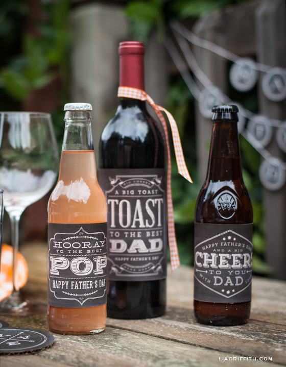 Printable Fathers Day Bottle Labels