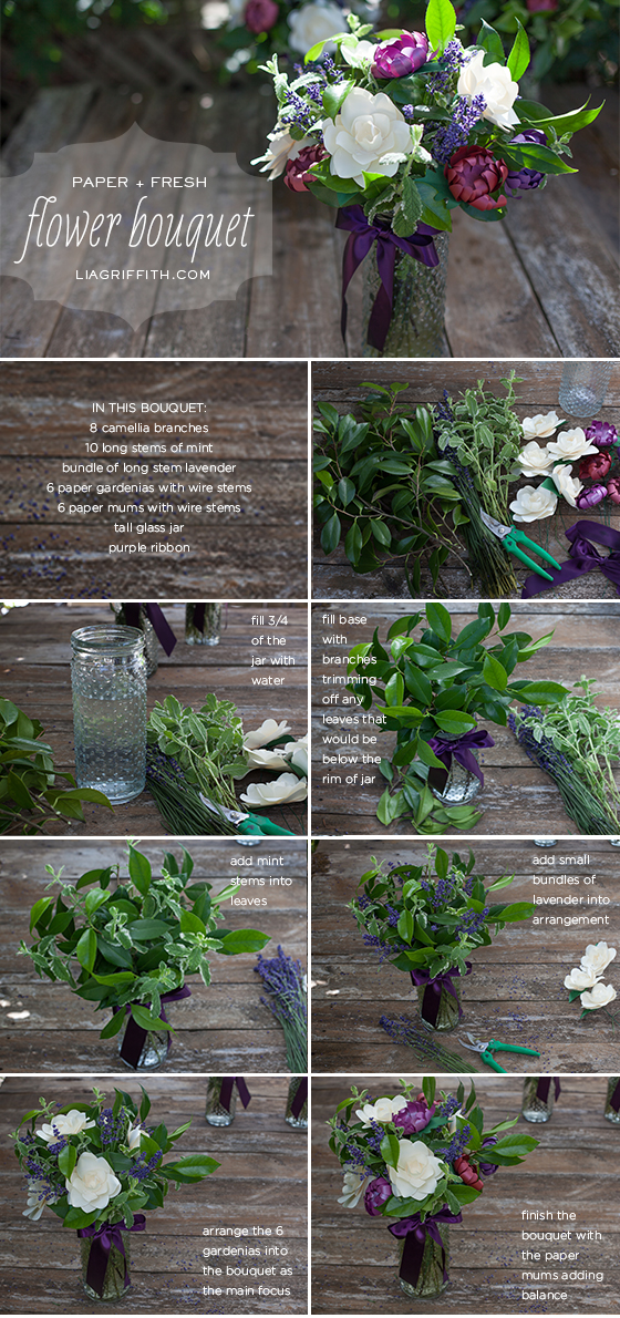 Flower Mix Bouquet Tutorial