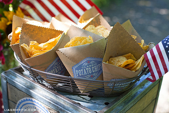 Fourth of July Chip Bags