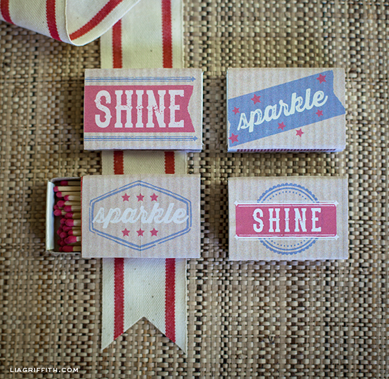 Fourth of July Matchbox Labels