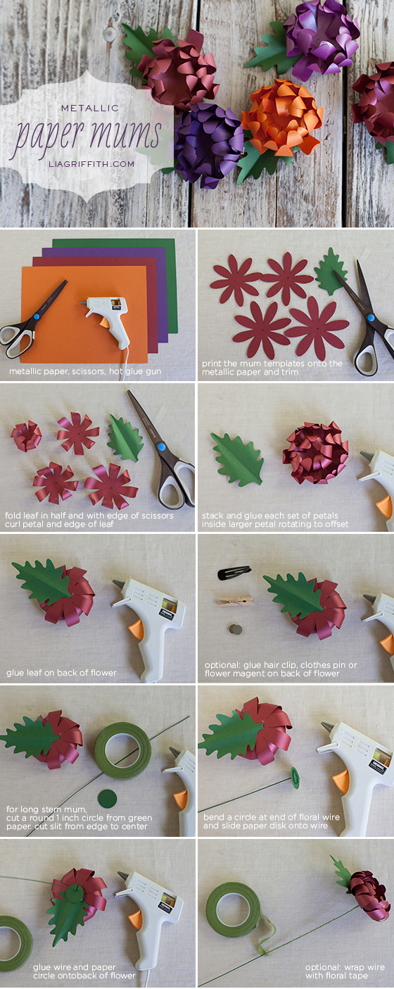 Diy paper mums for your wedding or event mightylinksfo