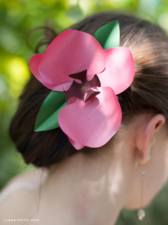 Paper Orchid Hair Clip