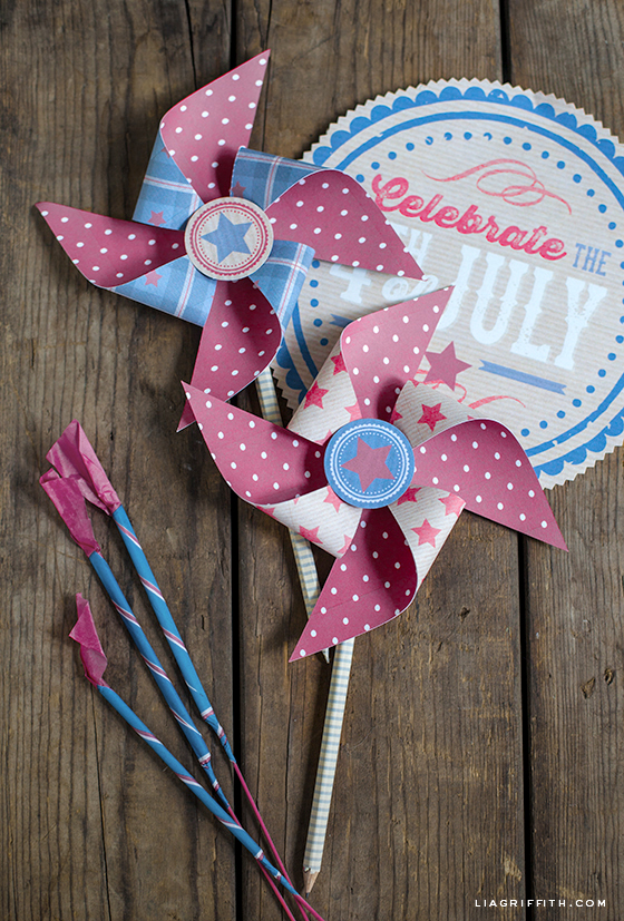Pinwheels for Fourth of July