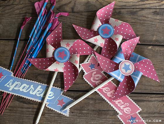 Printable Paper Pinwheels