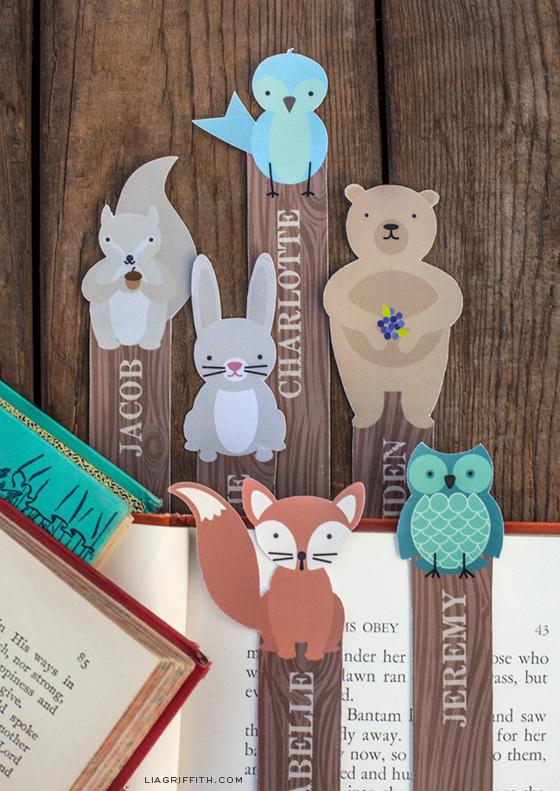 Woodland Bookmarks
