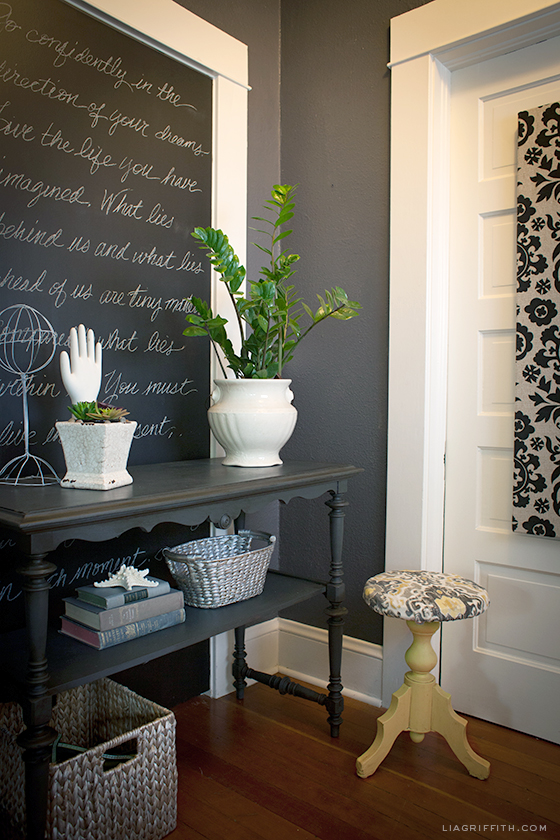 Peppercorn by Sherwin-Williams; entryway