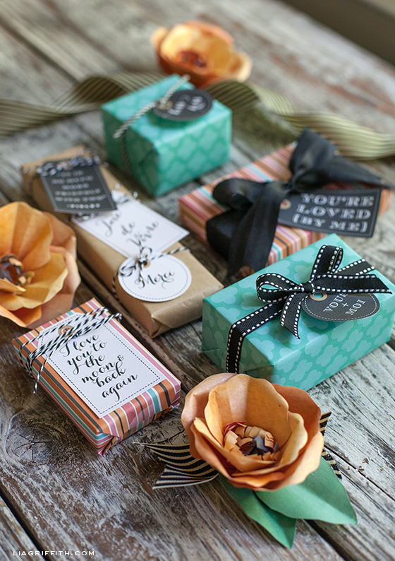 French Gift Tags Gift Wrap