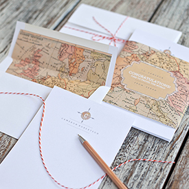 Printable Vintage Map Stationery