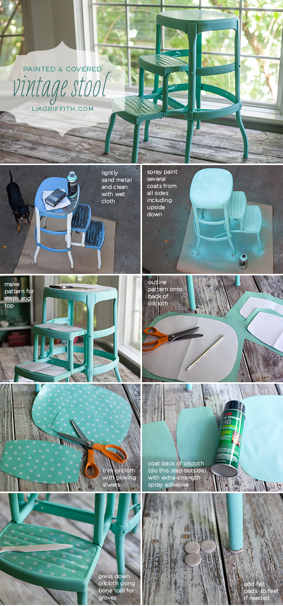 Diy Upcycled Vintage Step Stool